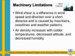 machinery limitations1
