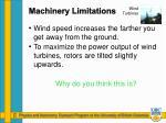 machinery limitations2
