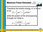 maximum power extracted3