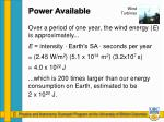 power available1