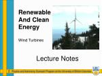 renewable and clean energy wind turbines