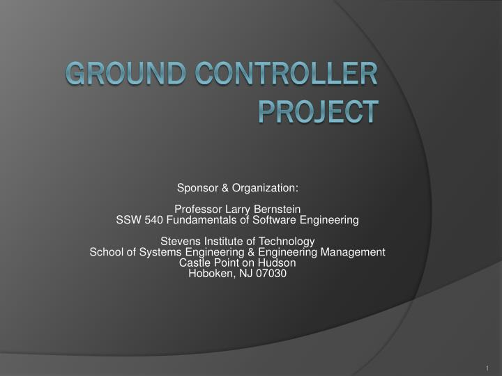 Ground controller project