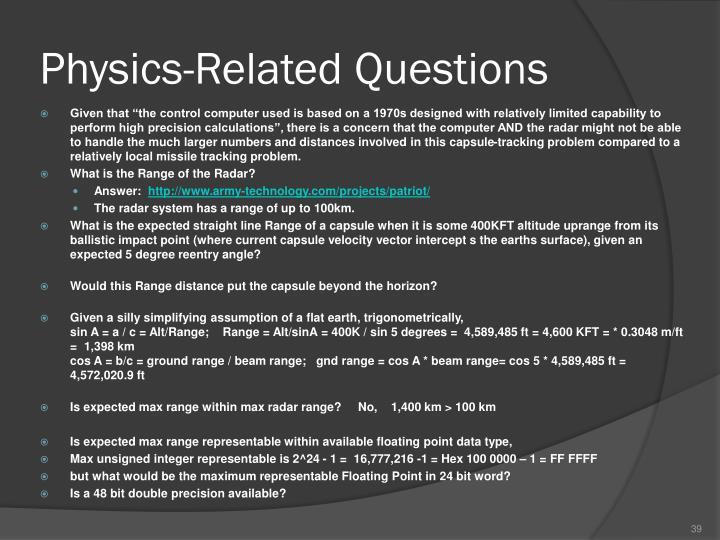 Physics-Related Questions