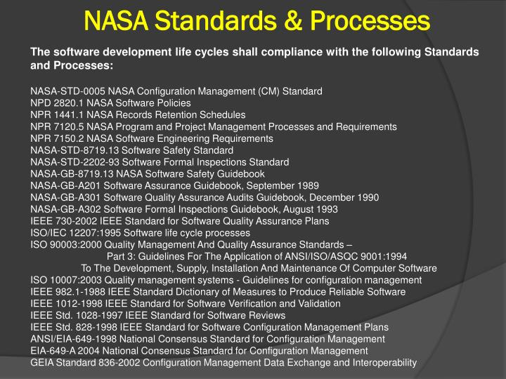 NASA Standards & Processes