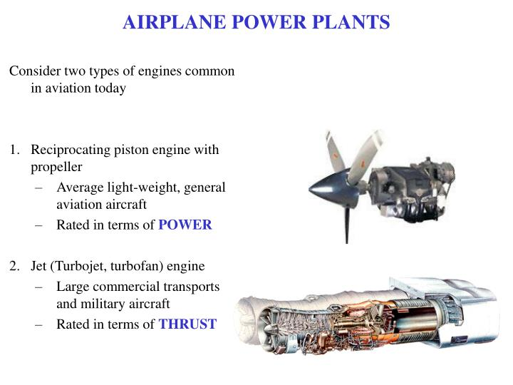 AIRPLANE POWER PLANTS