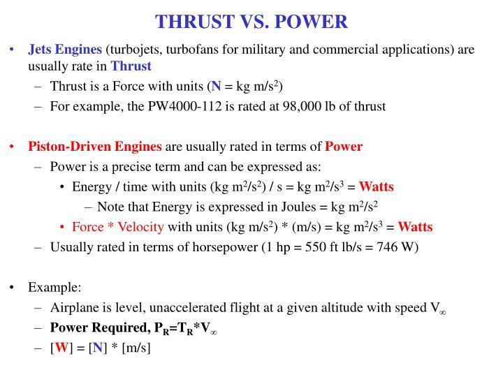 THRUST VS. POWER