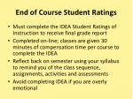 end of course student ratings