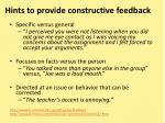 hints to provide constructive feedback1