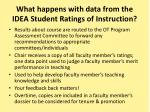 what happens with data from the idea student ratings of instruction
