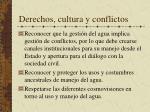 derechos cultura y conflictos