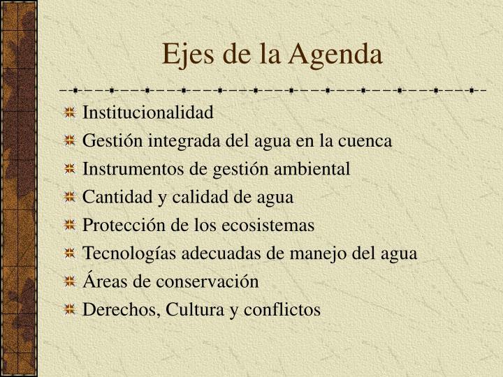 Ejes de la Agenda