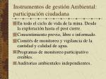 instrumentos de gesti n ambiental participaci n ciudadana