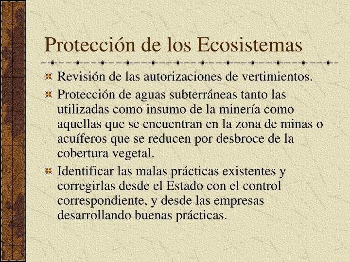 Protección de los Ecosistemas