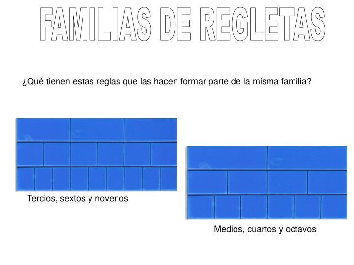 FAMILIAS DE REGLETAS