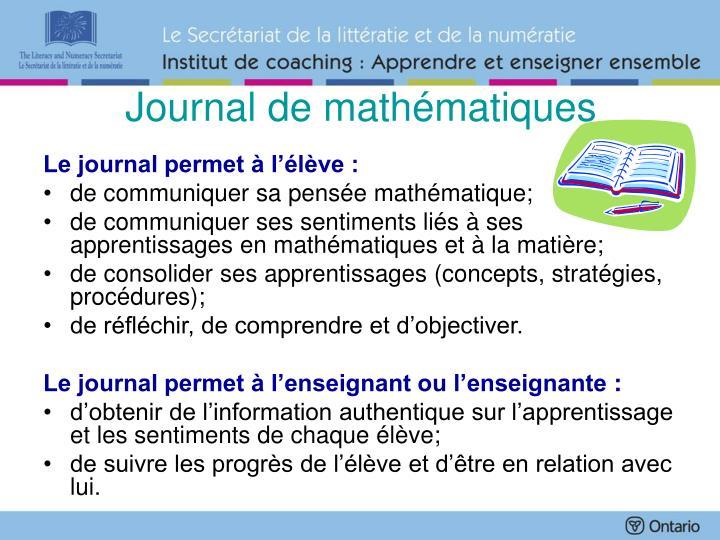 Journal de mathématiques