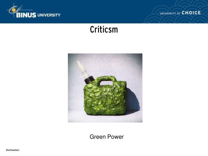 Criticsm