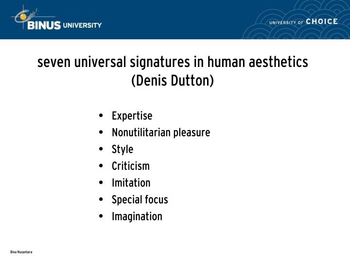 seven universal signatures in human aesthetics