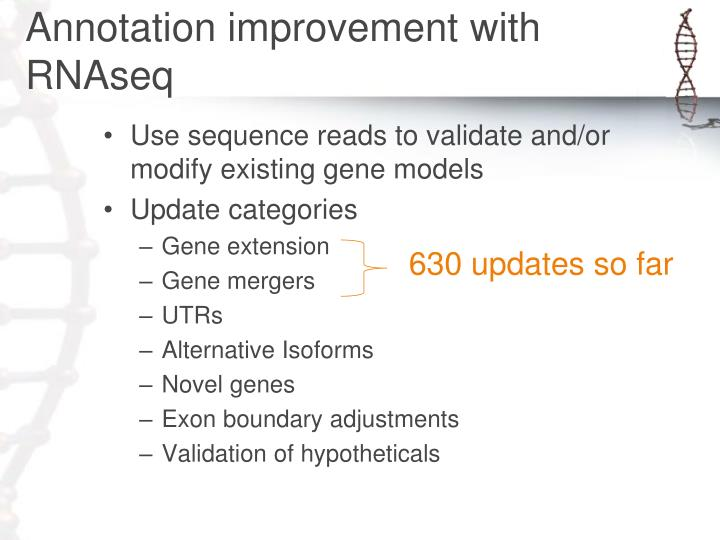 Annotation improvement with