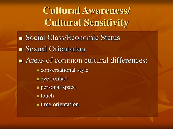Cultural Awareness/