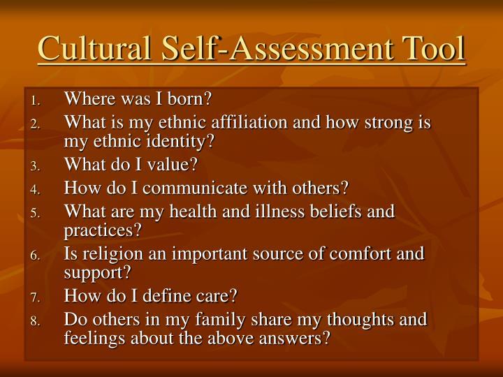 Cultural Self-Assessment Tool