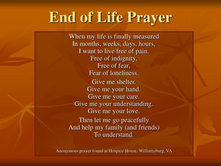 End of Life Prayer