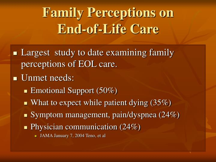 Family Perceptions on