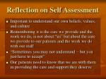 reflection on self assessment