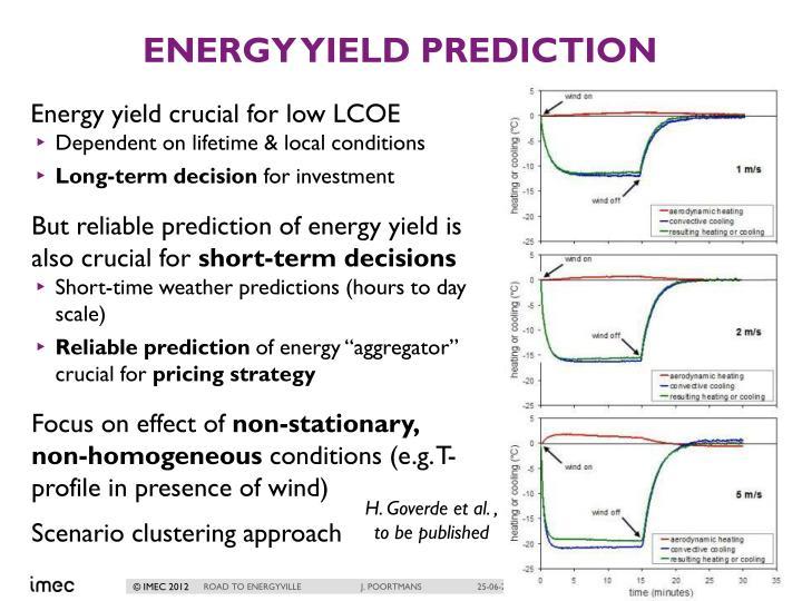 Energy Yield prediction