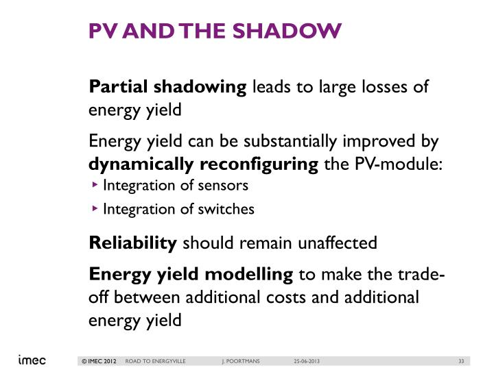 PV and the shadow