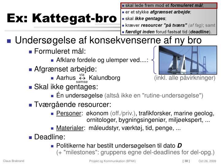 Ex: Kattegat-bro