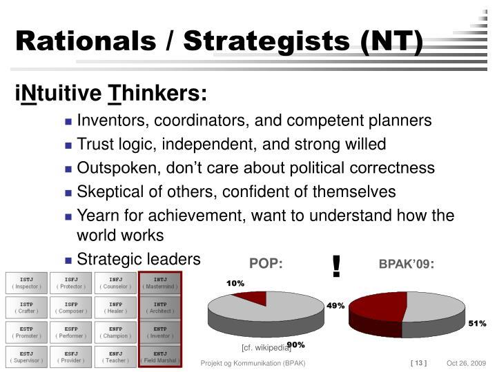 Rationals / Strategists (NT)