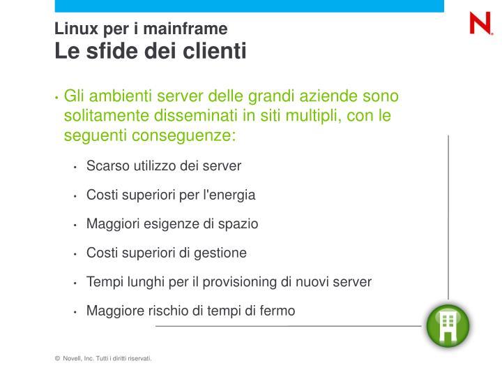 Linux per i mainframe