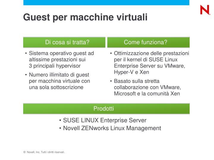 Guest per macchine virtuali