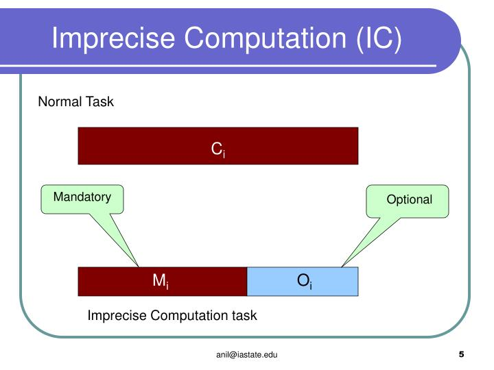 Imprecise Computation (IC)