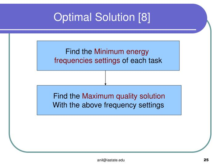 Optimal Solution [8]