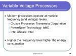 variable voltage processors