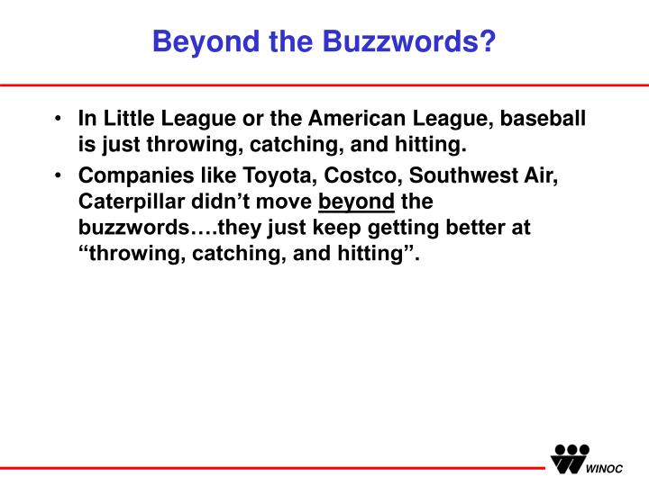Beyond the Buzzwords?