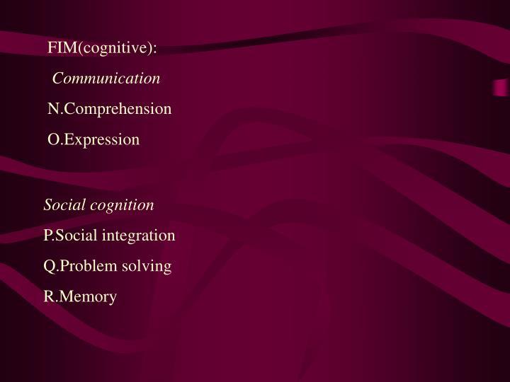 FIM(cognitive):