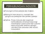 perhubungan industri
