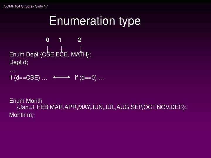 Enumeration type