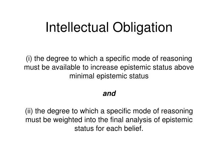 Intellectual Obligation
