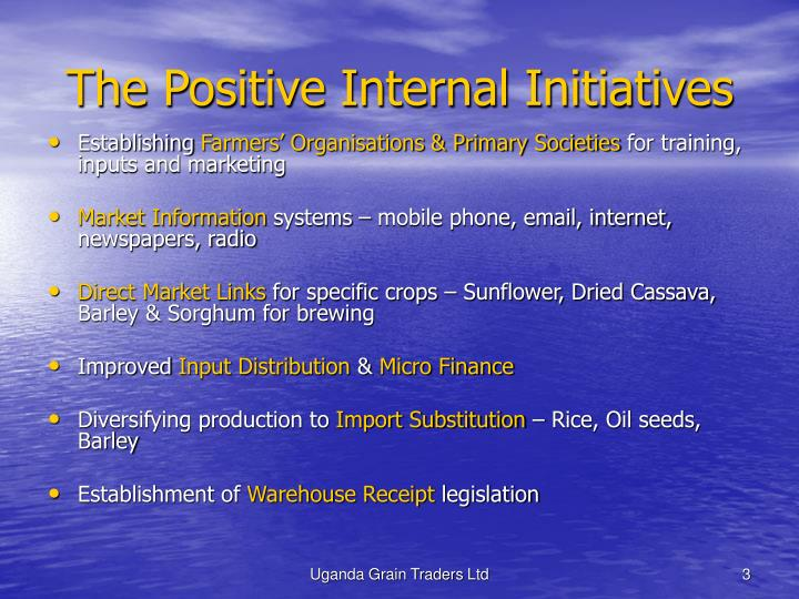 The positive internal initiatives