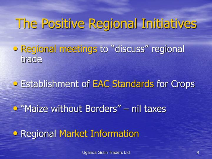 The Positive Regional Initiatives