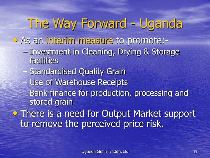 The Way Forward - Uganda