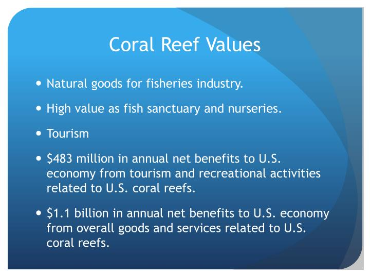 Coral Reef Values