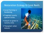 restoration ecology coral reefs1
