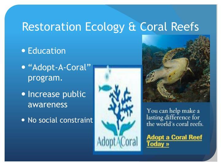Restoration Ecology & Coral Reefs