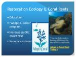 restoration ecology coral reefs3