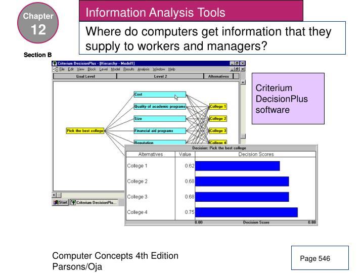 Information Analysis Tools