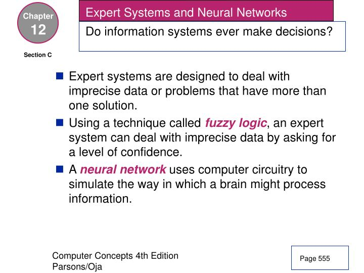 Expert Systems and Neural Networks
